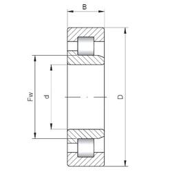 150 mm x 320 mm x 108 mm  Loyal NJ2330 E cylindrical roller bearings