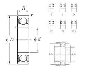120 mm x 260 mm x 55 mm  KOYO 6324ZX deep groove ball bearings