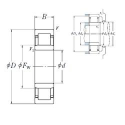 120 mm x 260 mm x 55 mm  NSK NU 324 EM cylindrical roller bearings