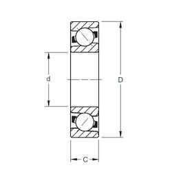 120 mm x 260 mm x 55 mm  Timken 7324WN MBR angular contact ball bearings