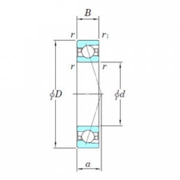 130 mm x 200 mm x 33 mm  KOYO 3NCHAC026CA angular contact ball bearings
