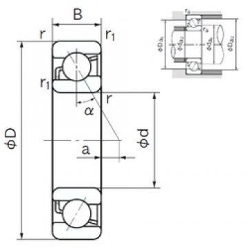10 mm x 35 mm x 11 mm  NACHI 7300C angular contact ball bearings