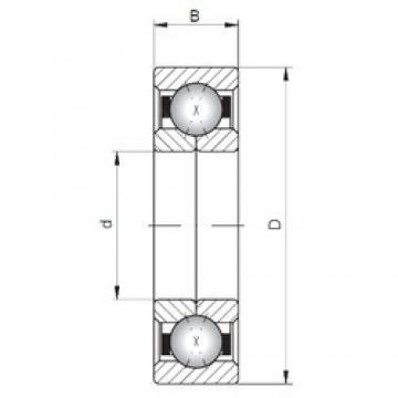 Loyal QJ1026 angular contact ball bearings