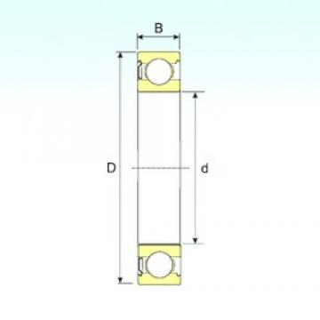 10 mm x 35 mm x 11 mm  ISB 6300-Z deep groove ball bearings