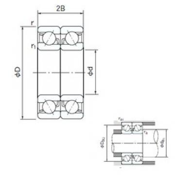 10 mm x 35 mm x 11 mm  NACHI 7300BDB angular contact ball bearings