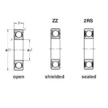 10 mm x 35 mm x 11 mm  Loyal 6300ZZ deep groove ball bearings