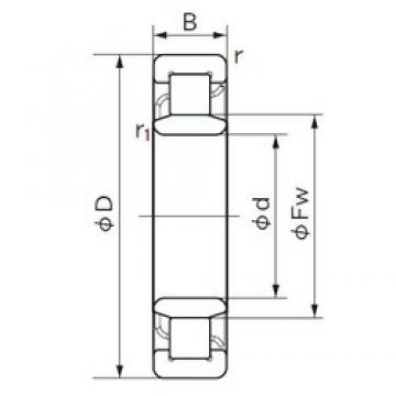 130 mm x 200 mm x 33 mm  NACHI NU 1026 cylindrical roller bearings