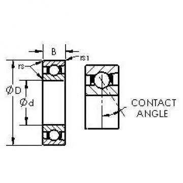 AST 7026AC angular contact ball bearings
