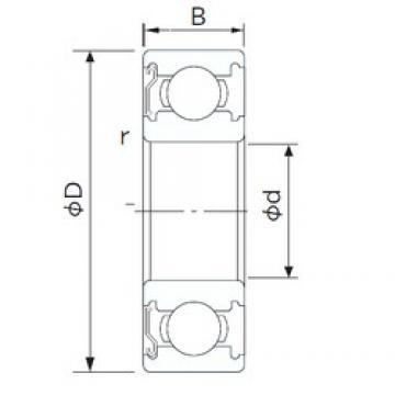 10 mm x 35 mm x 11 mm  NACHI 6300ZE deep groove ball bearings