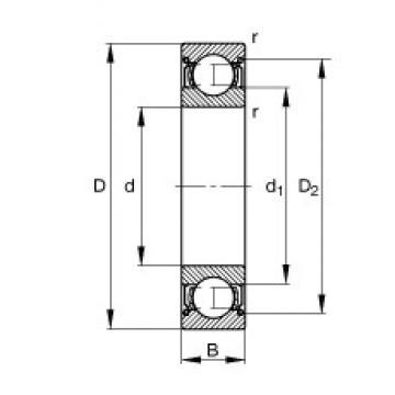 10 mm x 35 mm x 11 mm  FAG 6300-2Z deep groove ball bearings