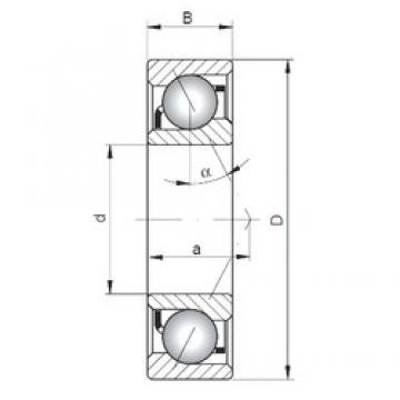 130 mm x 200 mm x 33 mm  ISO 7026 A angular contact ball bearings