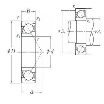 120 mm x 260 mm x 55 mm  NSK 7324 B angular contact ball bearings