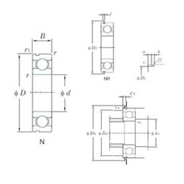 130 mm x 200 mm x 33 mm  KOYO 6026NR deep groove ball bearings