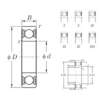 120 mm x 260 mm x 55 mm  KOYO 6324ZZX deep groove ball bearings