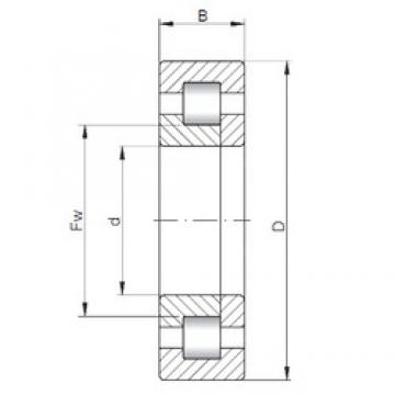 120 mm x 260 mm x 55 mm  ISO NUP324 cylindrical roller bearings