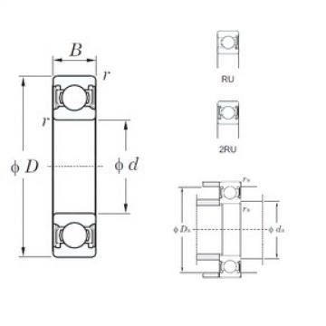 130 mm x 200 mm x 33 mm  KOYO 6026-2RU deep groove ball bearings