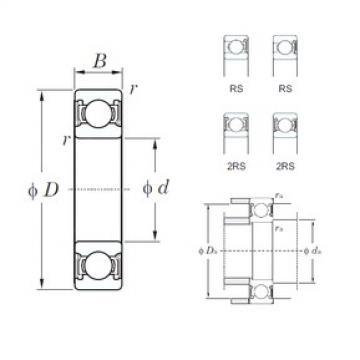 10 mm x 35 mm x 11 mm  KOYO 6300-2RS deep groove ball bearings