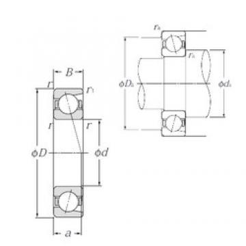 120 mm x 260 mm x 55 mm  NTN 7324B angular contact ball bearings