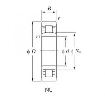 120 mm x 260 mm x 55 mm  KOYO NU324R cylindrical roller bearings