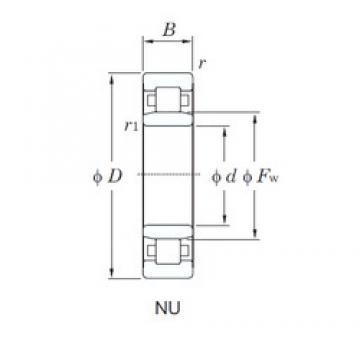 130 mm x 200 mm x 33 mm  KOYO NU1026 cylindrical roller bearings