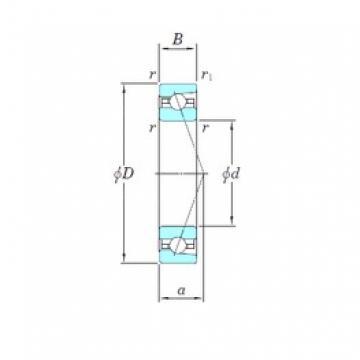 130 mm x 200 mm x 33 mm  KOYO 3NCHAR026C angular contact ball bearings