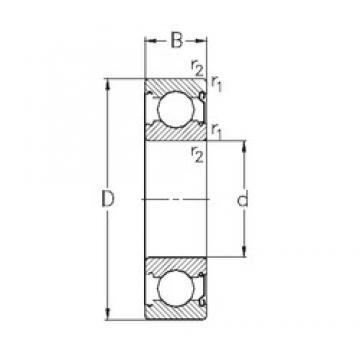 10 mm x 35 mm x 11 mm  NKE 6300-Z deep groove ball bearings