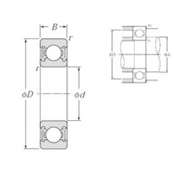 10 mm x 35 mm x 11 mm  NTN 6300LLU deep groove ball bearings