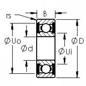 AST 6300-2RS deep groove ball bearings