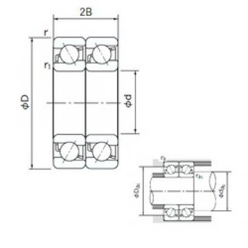 120 mm x 260 mm x 55 mm  NACHI 7324BDT angular contact ball bearings