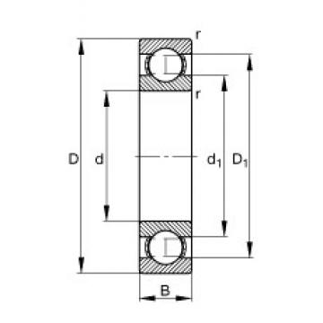 120 mm x 260 mm x 55 mm  FAG 6324 deep groove ball bearings