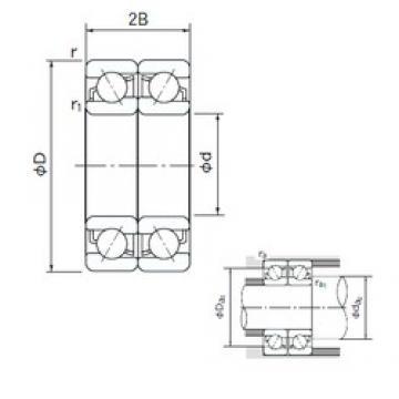 120 mm x 260 mm x 55 mm  NACHI 7324BDF angular contact ball bearings