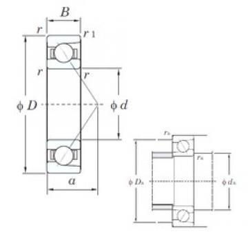 10 mm x 35 mm x 11 mm  KOYO 7300 angular contact ball bearings