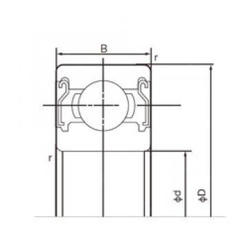 130 mm x 200 mm x 33 mm  NACHI 6026ZZ deep groove ball bearings