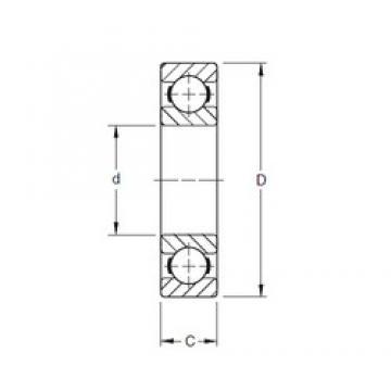 10 mm x 35 mm x 11 mm  Timken 300K deep groove ball bearings