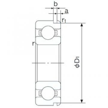 10 mm x 35 mm x 11 mm  NACHI 6300N deep groove ball bearings