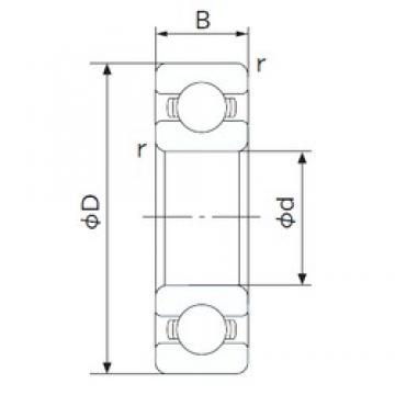 120 mm x 260 mm x 55 mm  NACHI 6324 deep groove ball bearings