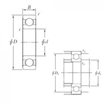 120 mm x 260 mm x 55 mm  KOYO 6324 deep groove ball bearings
