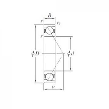 120 mm x 260 mm x 55 mm  KOYO 7324 angular contact ball bearings