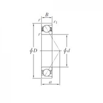 130 mm x 200 mm x 33 mm  KOYO 7026B angular contact ball bearings