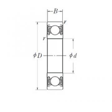 120 mm x 260 mm x 55 mm  NSK 6324DDU deep groove ball bearings