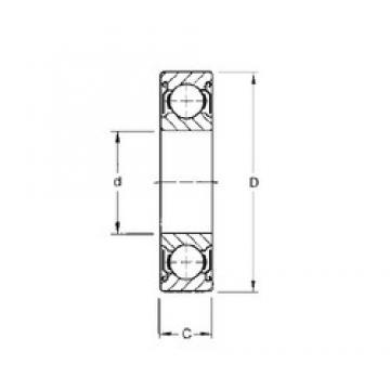 10 mm x 35 mm x 11 mm  Timken 300KDD deep groove ball bearings
