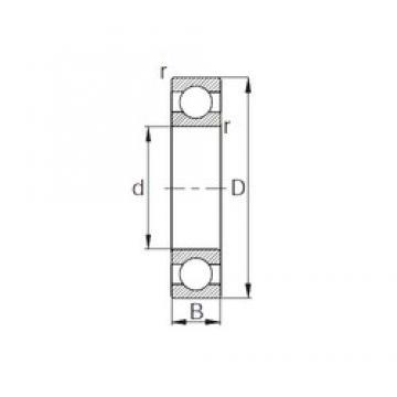 10 mm x 35 mm x 11 mm  CYSD 6300 deep groove ball bearings