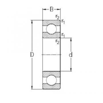 130 mm x 200 mm x 33 mm  NKE 6026 deep groove ball bearings