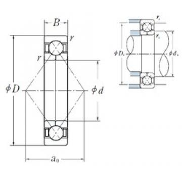 120 mm x 260 mm x 55 mm  NSK QJ 324 angular contact ball bearings