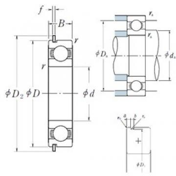 130 mm x 200 mm x 33 mm  NSK 6026NR deep groove ball bearings