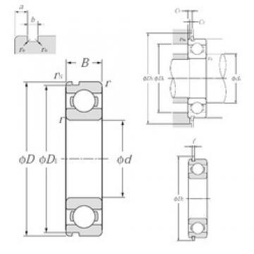 130 mm x 200 mm x 33 mm  NTN 6026NR deep groove ball bearings