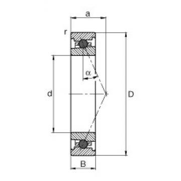 130 mm x 200 mm x 33 mm  FAG HC7026-E-T-P4S angular contact ball bearings