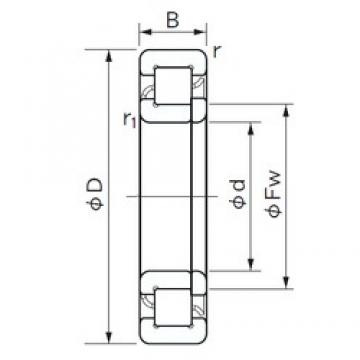 130 mm x 200 mm x 33 mm  NACHI NUP 1026 cylindrical roller bearings