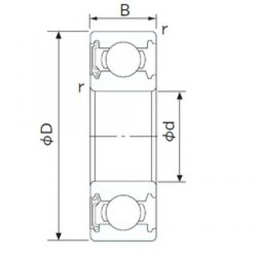 10 mm x 35 mm x 11 mm  CYSD 6300-RS deep groove ball bearings