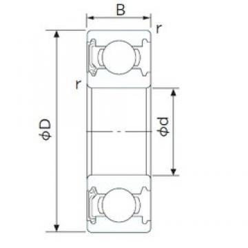 10 mm x 35 mm x 11 mm  NACHI 6300NSE deep groove ball bearings